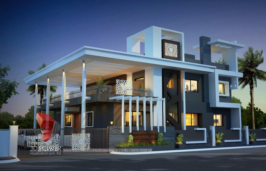 Bungalow Floor Plans Jaipur 3D Power