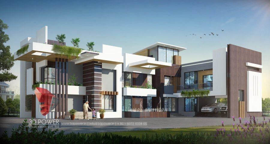 Bungalow design vadodara 3d power for Architectural designs for bungalows