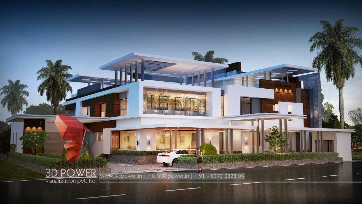 3d bungalow exterior 3d bungalow rendering 3d power for Exterior architecture