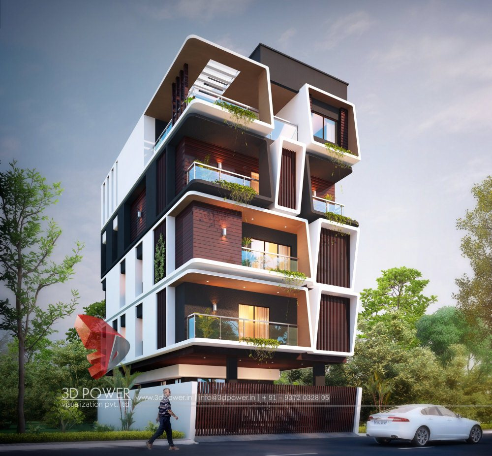 Bungalow 3d Rendering Contemporary Bungalow Rendering: Bungalow Architectural Hyderabad