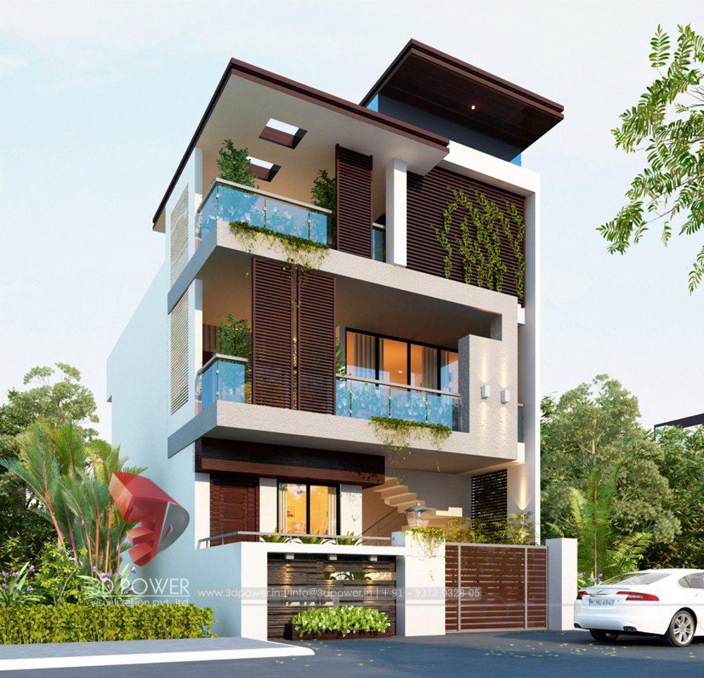 Bungalow 3d Rendering Contemporary Bungalow Rendering: Bungalow Architectural Pune