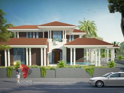 3D Exterior Villa Visualization