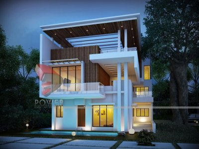 3D Night Views Bungalow