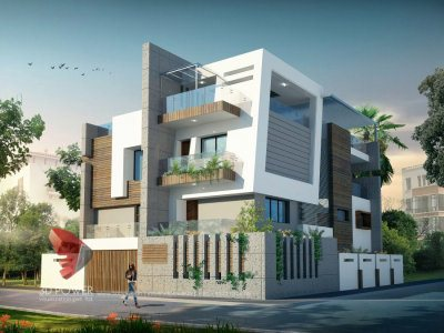 3D Rendering Bungalow Day View