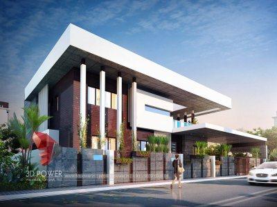 3d-architectural-design-studio-architectural-3d-modeling-services-bungalow-evening-view-in-pune