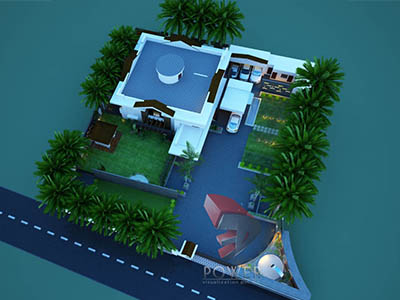 3d-architectural-rendering-bungalow-birds-eye-view