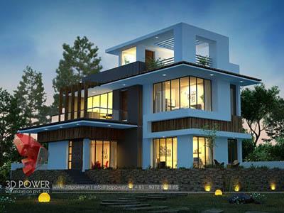 3d-floor-plan-rendering-bungalow-night-view