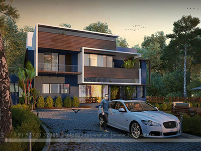 3d-walkthrough-rendering-outsourcing-services-bungalow-night-view