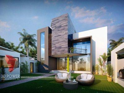 architectural-design-house-3d-animation-walkthrough-exterior-design-rendering-bungalow-evening-view-in-pune