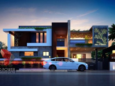 exterior-design-rendering-bungalow-best-architectural-rendering-services-bungalow-night-view-pune