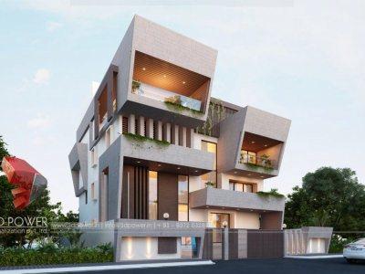 exterior-design-rendering-bungalow-evening-view-3d-walkthrough-rendering-and-services-hyderabad-bungalow