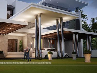 top-3d-walkthrough-rendering-bungalow-evening-view