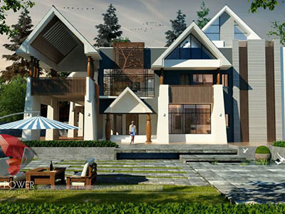 top-architectural-rendering-services-bungalow-evening-view