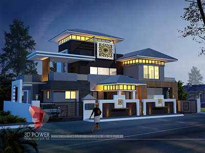 top-architectural-rendering-services-bungalow-night-view