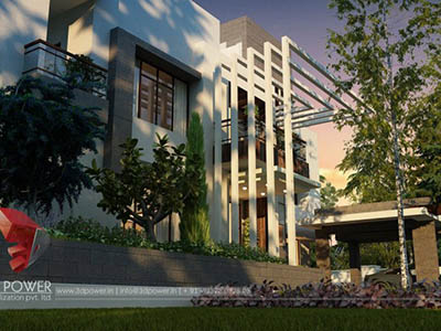 walkthrough-rendering-services-bungalow-evening-view