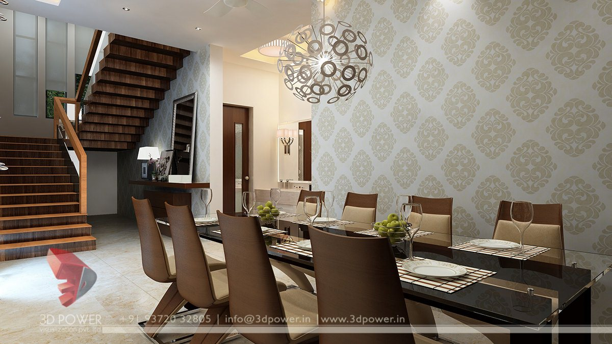 Interior design chennai 3d power for Dining room 3d view