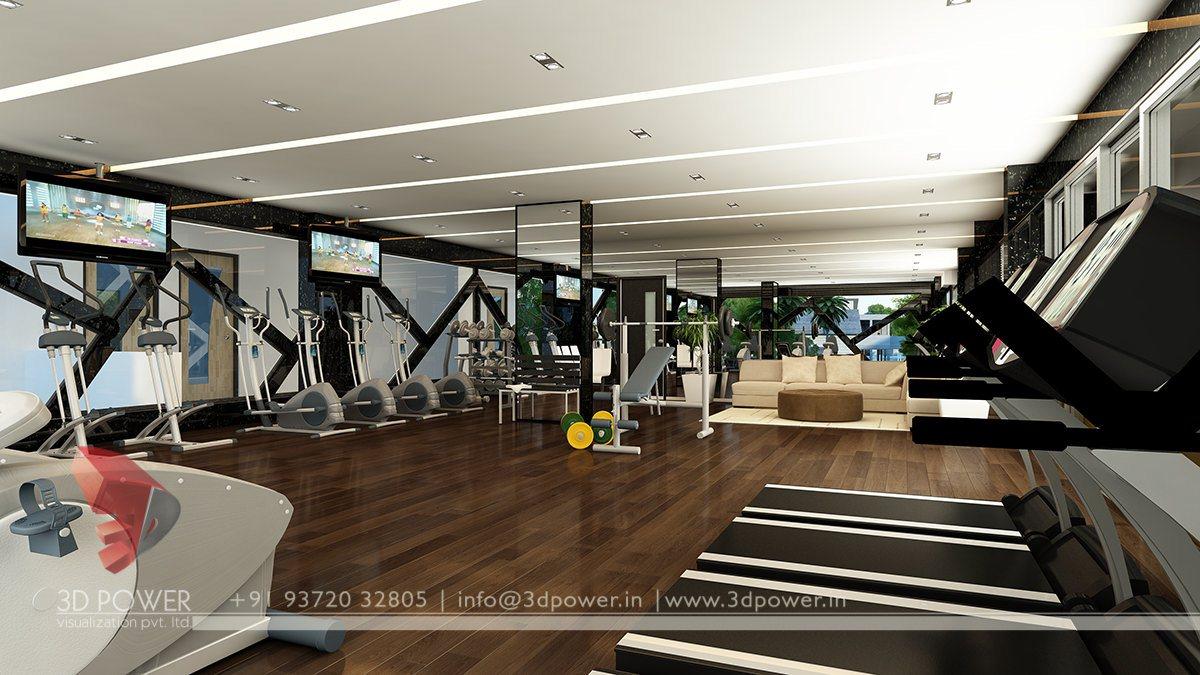... 3D Gym Rendering Interior