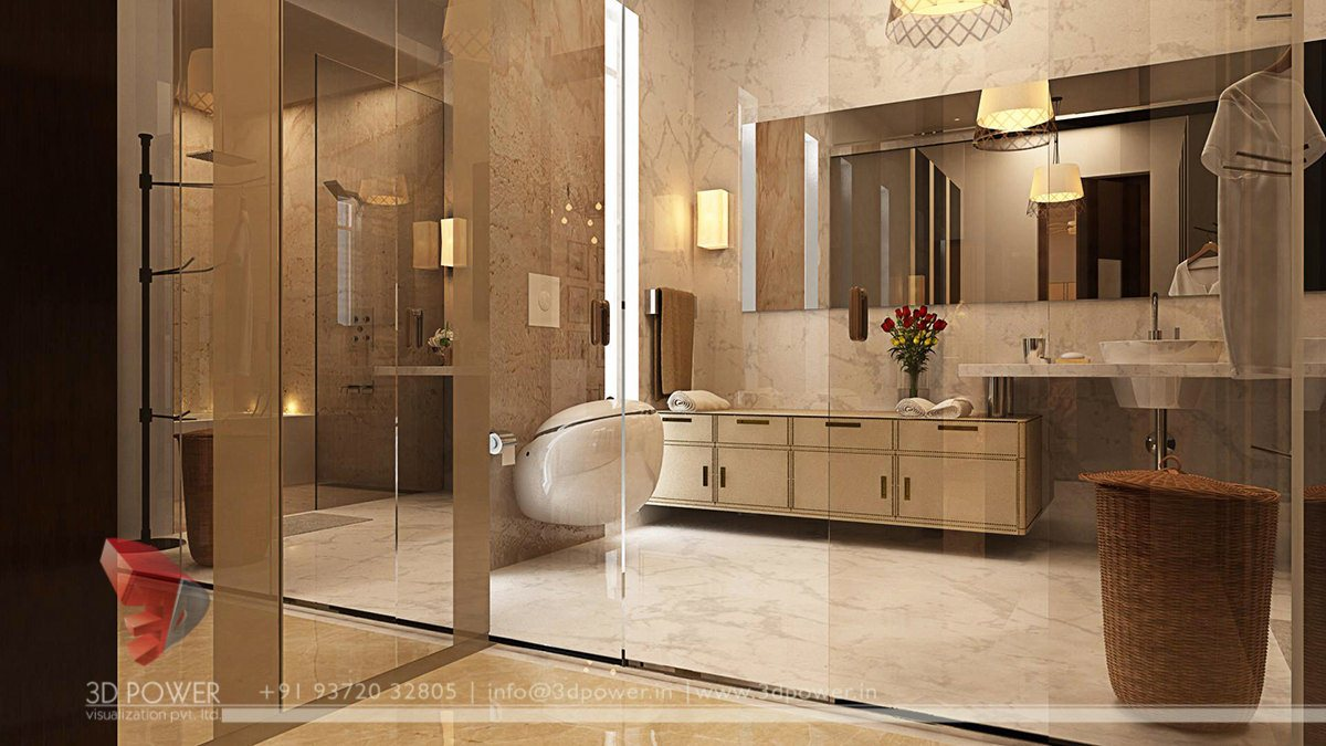 Interior architectural nashik 3d power for Home decor interiors bathroom