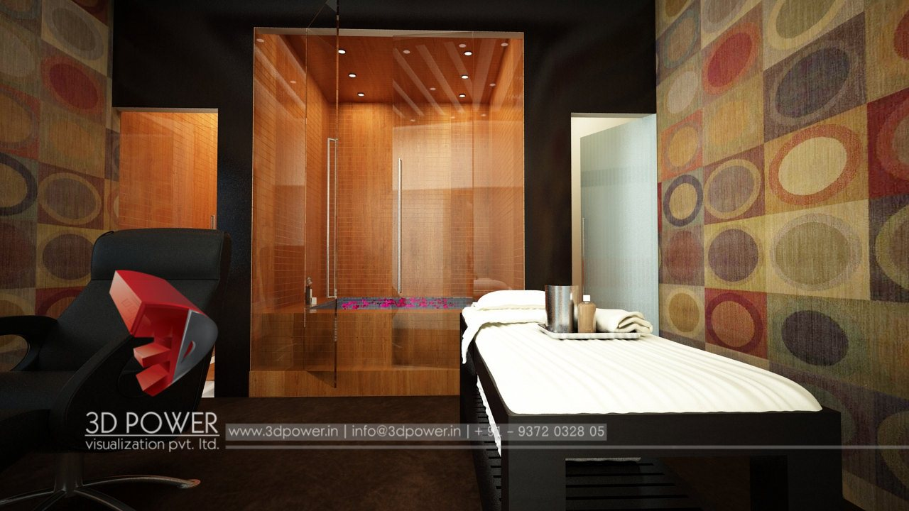 Animation interior ahmadabad 3d power for Bathroom interior design services