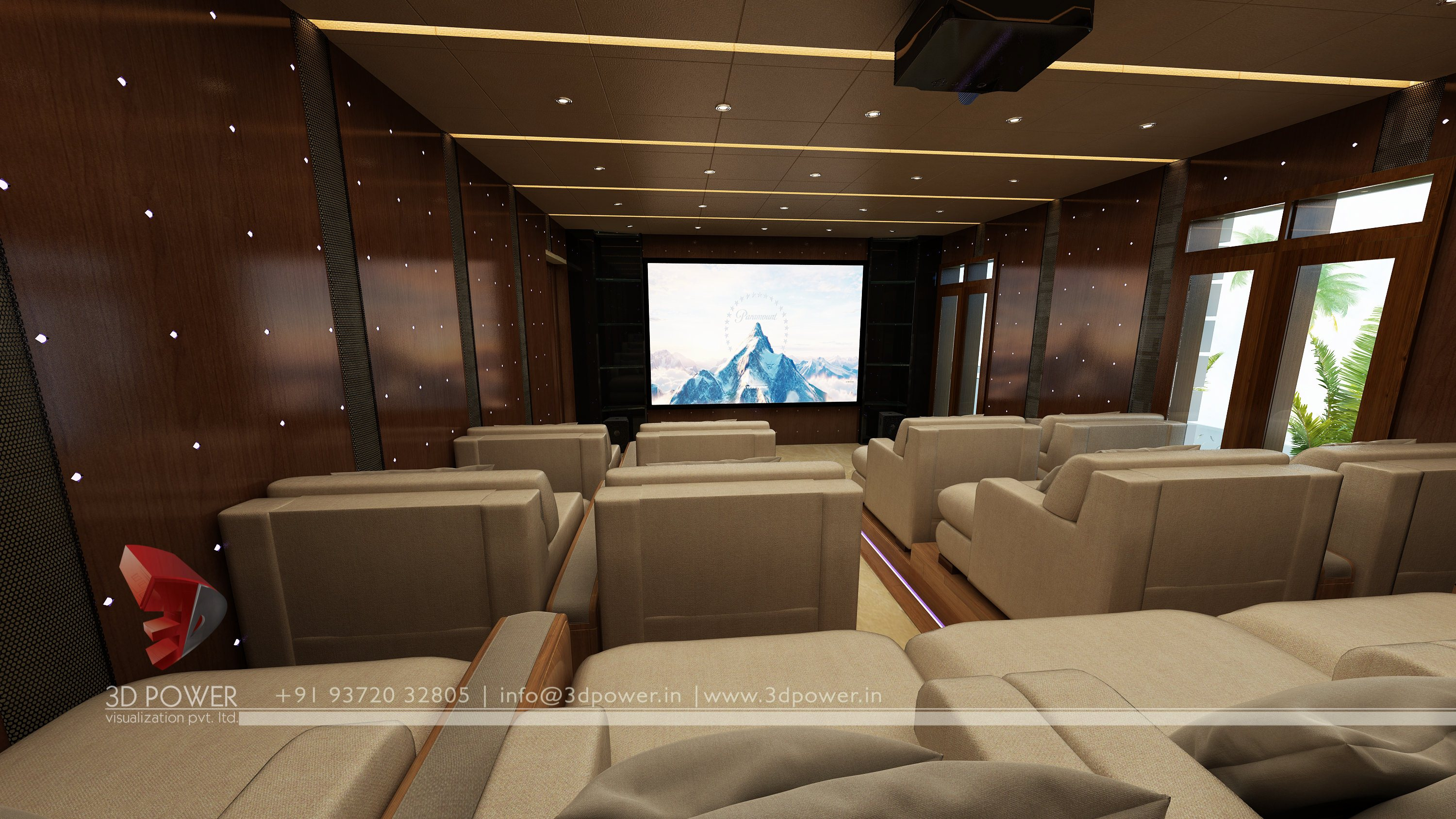 Home Theater Interior HomeTheater 3D Interior ...