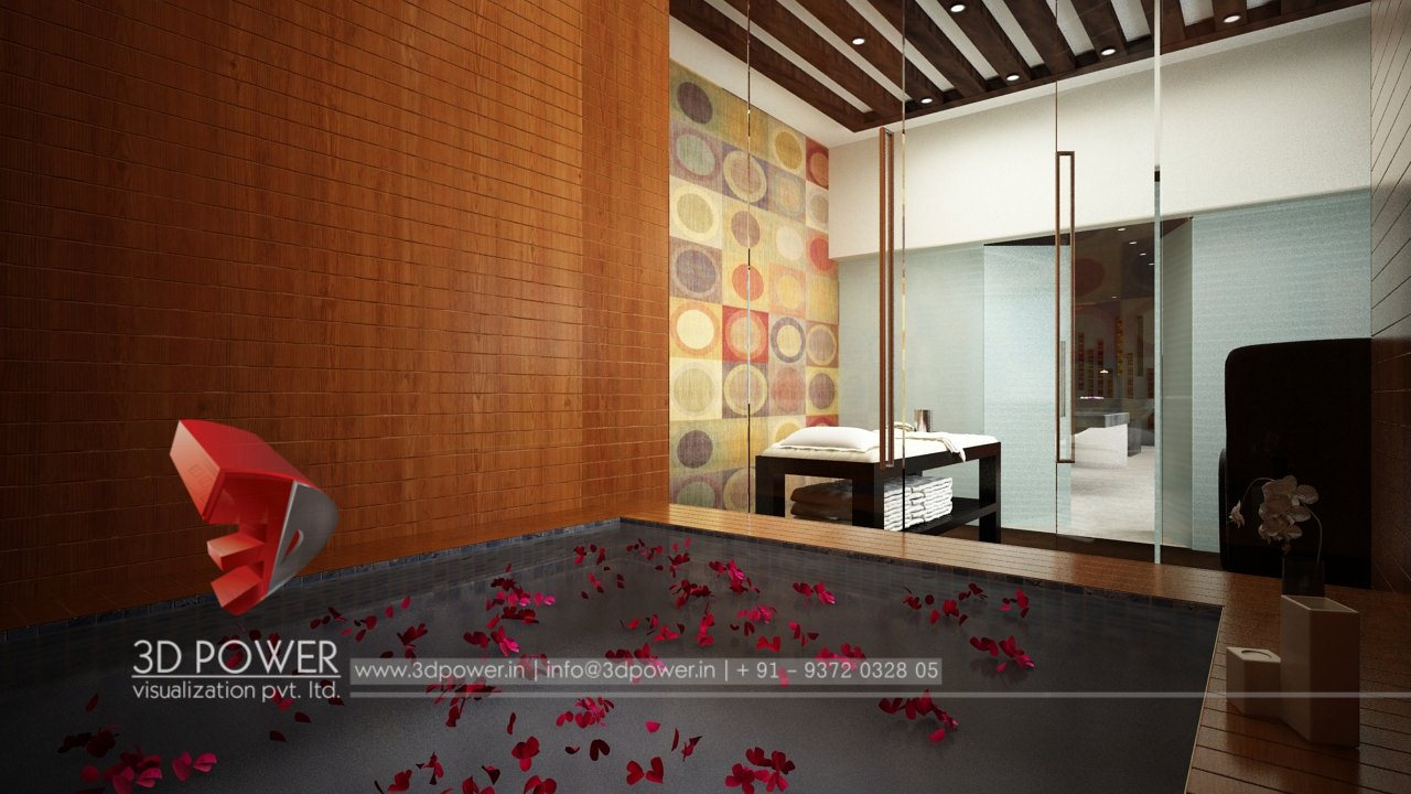 Interior render solapur 3d power for Bathroom interior design services