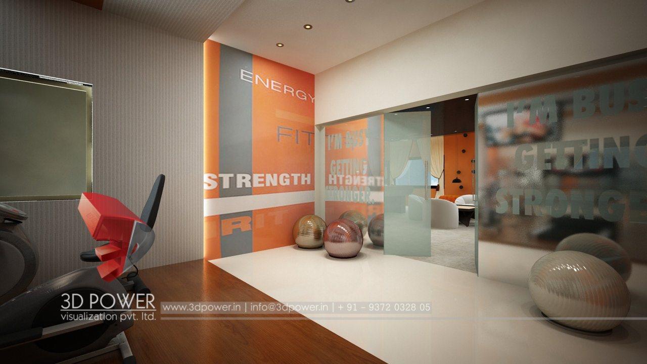 Architectural interior company rajkot 3d power for Gym interior design