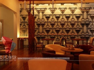 3D Architectural Interior Hotel Bar