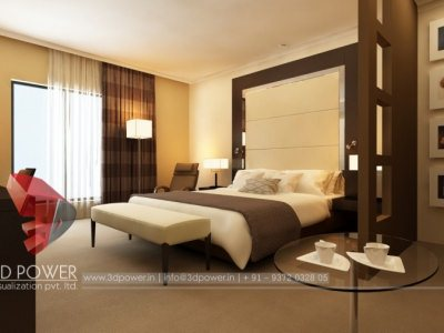 3D Bedroom Architectural Interior