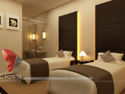 3D Bedroom Visualization Interior