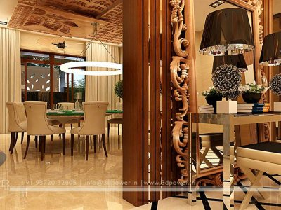 3D Dining Room Architectural Interior