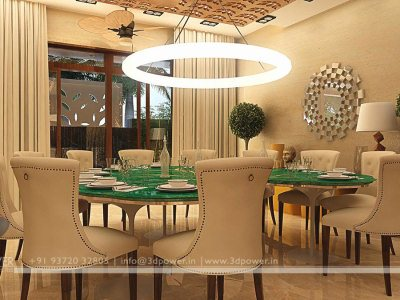 3D Dining Room Visualization Interior