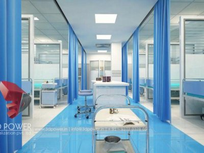 3D Hospital Icu Rendering Interior