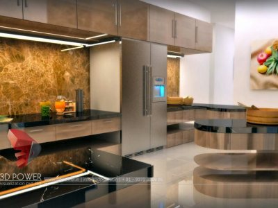 3D Kitchen Visualization Interior