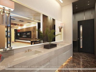 3D Living Room Visualization Interior