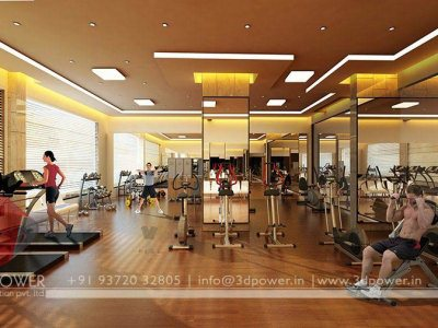 3D Rendering Interior Gym