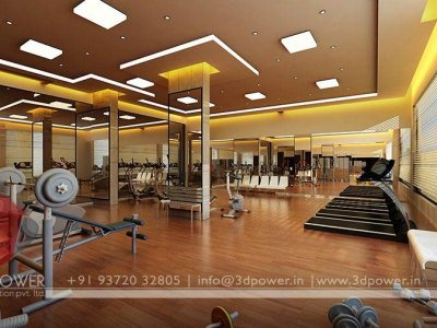 3D Visualization Interior Gym