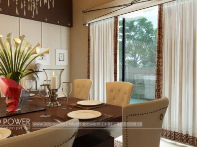 Interior Rendering Dining Room
