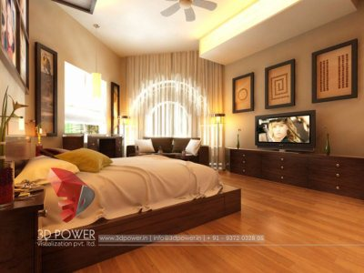 Panoramic Rendering Interior Bedroom
