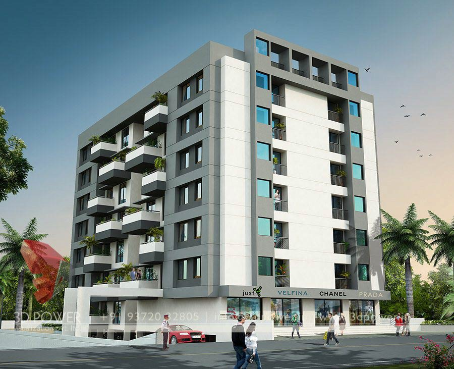Architectural visualization model jodhpur 3d power for Apartment design models