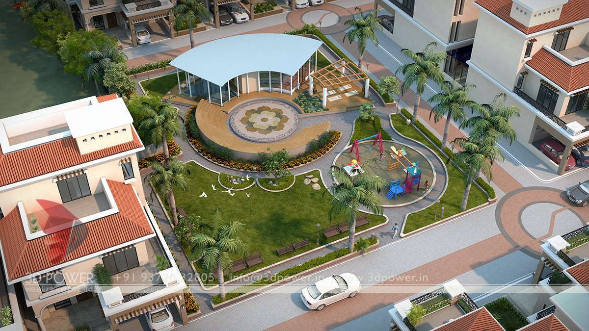 Township walkthroughs vadodara 3d power for Classic hard house