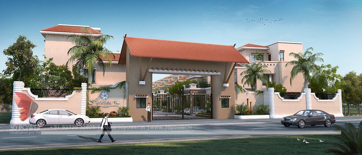 Township walkthrough bargarh 3d power - Entrance gate designs for home ...