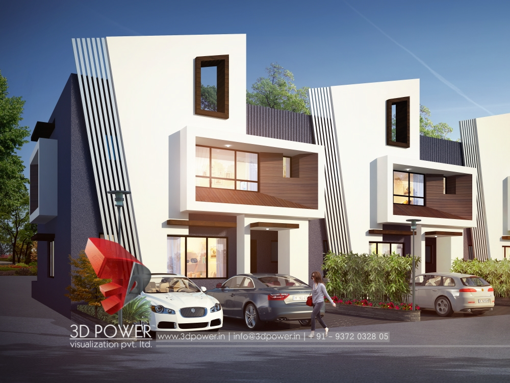 Exterior design rendering 3d power for Exterior design house pictures
