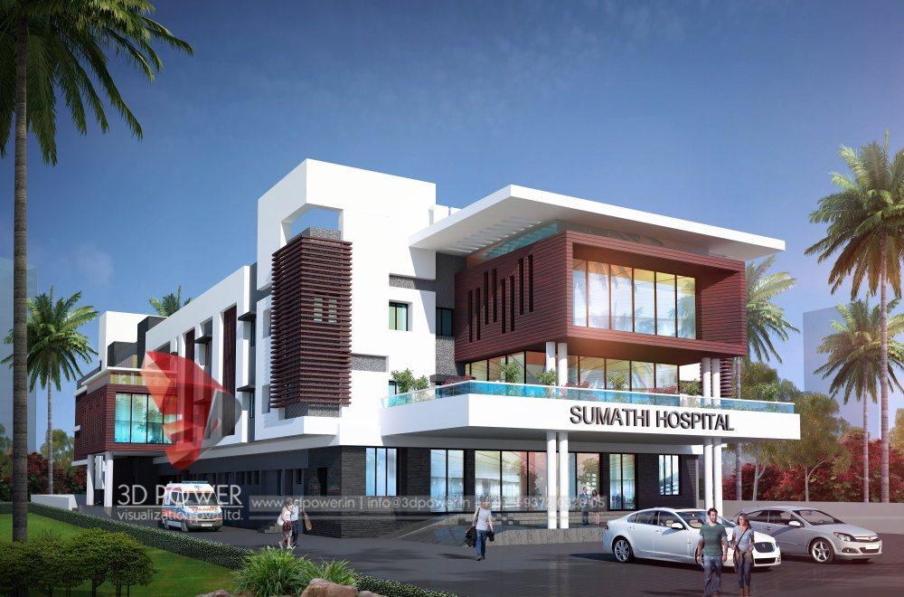 ... Hospital Building 3d Exterior View ...