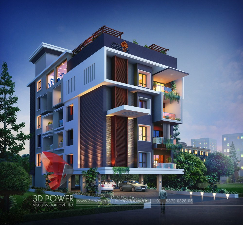 Apartment View: Architectural Rendering