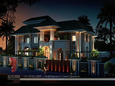 bungalow-3d-modeling-night-view