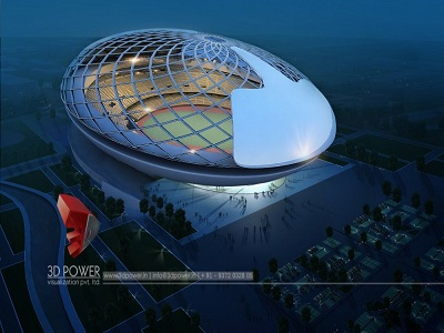 stadium-best-architectural-visualization-services-bird-eye-view