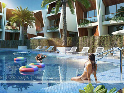3d Swimming Pool View Bahrain