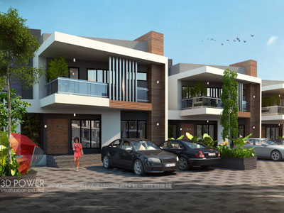3d Township Exterior Rendering