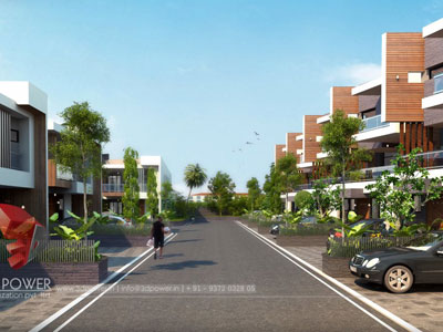 3d Township Rendering Animation
