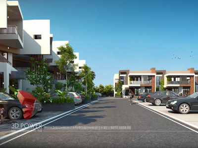 3d Township Rendering Architecture
